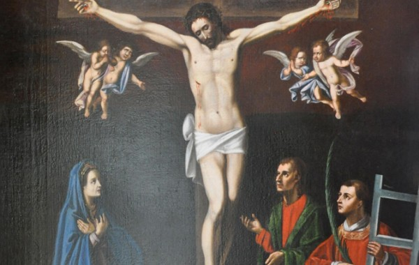 Crucifixion avec Saint-Laurent